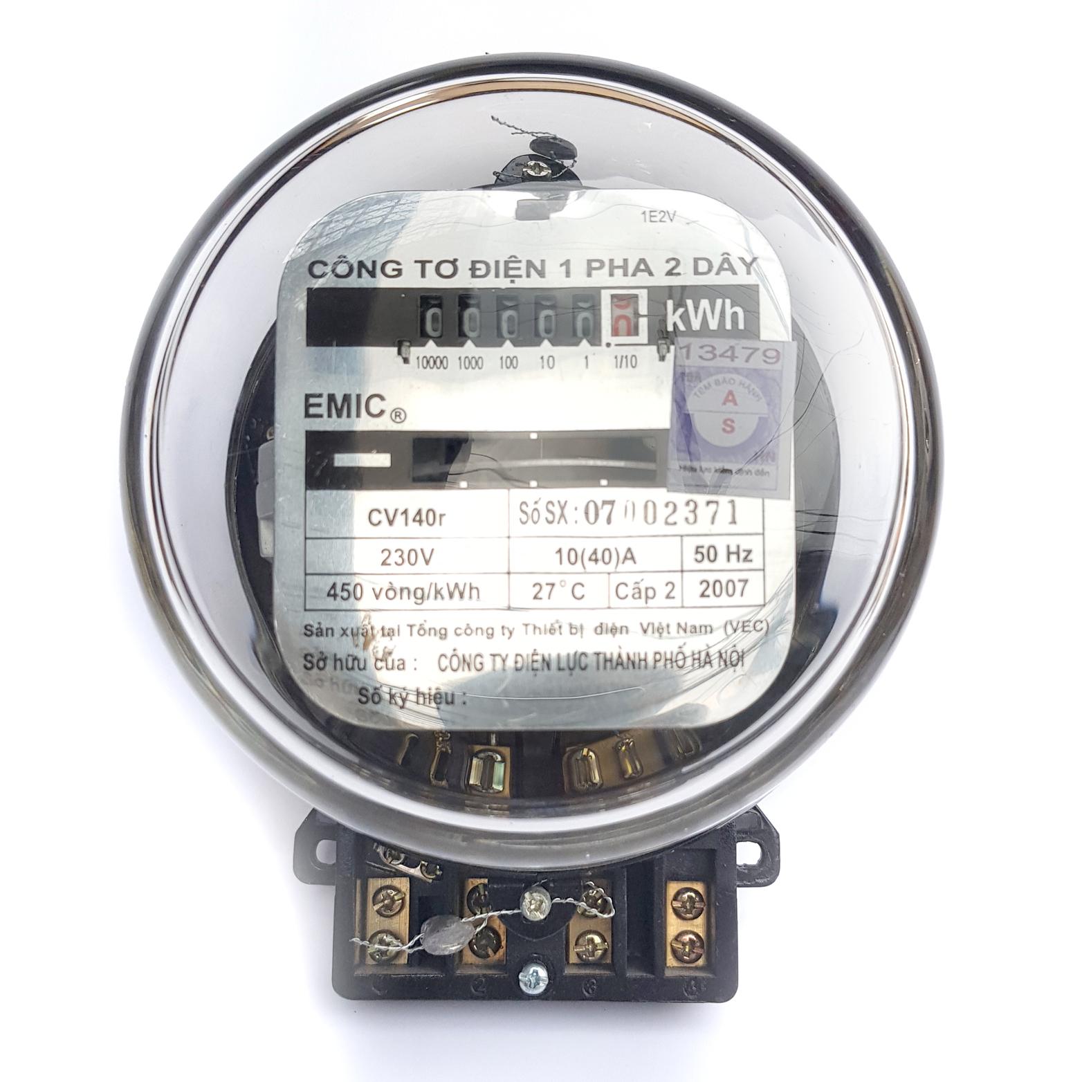 Công tơ điện 1 Pha EMIC 10(40)A