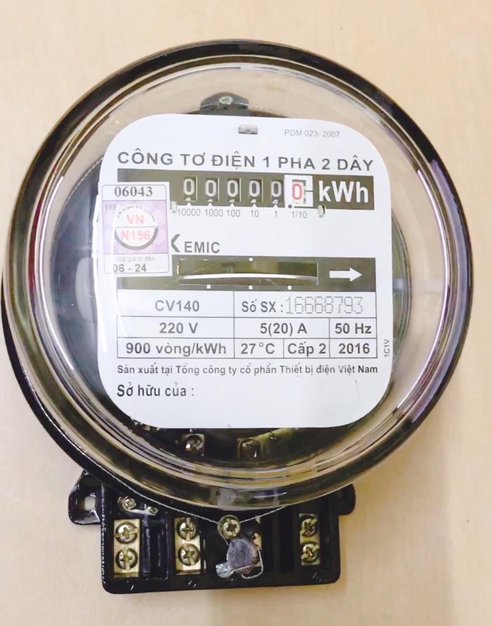 Công tơ điện 1 Pha EMIC 5(20)A